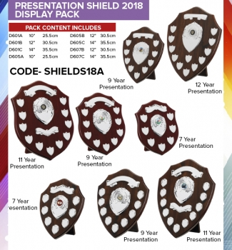 PRESENTATION SHIELD DISPLAY PK-MADE TO ORDER
