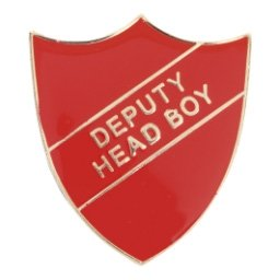 RED DEPUTY HEAD BOY SHIELD BADGE