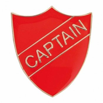 RED CAPTAIN SHIELD BADGE