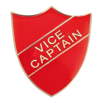 RED VICE CAPTAIN SHIELD BADGE