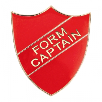 RED FORM CAPTAIN SHIELD BADGE