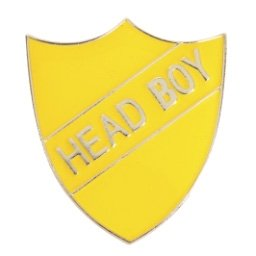 YELLOW HEAD BOY SHIELD BADGE