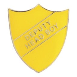 YELLOW DEPUTY HEAD BOY SHIELD BADGE