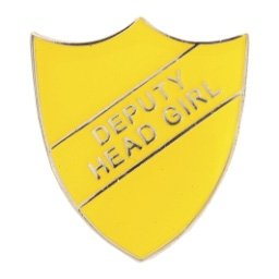 YELLOW DEPUTY HEAD GIRL SHIELD BADGE
