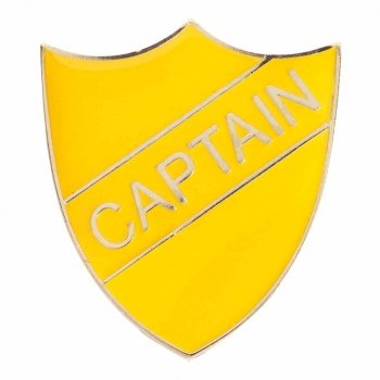 YELLOW CAPTAIN SHIELD BADGE