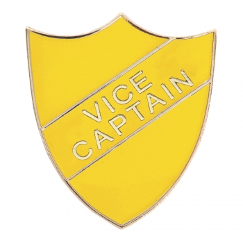 YELLOW VICE CAPTAIN SHIELD BADGE