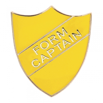 YELLOW FORM CAPTAIN SHIELD BADGE