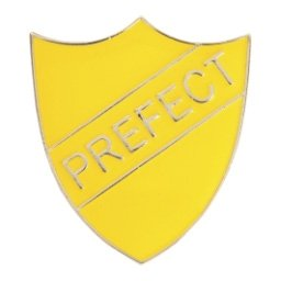 YELLOW PREFECT SHIELD BADGE