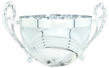 100MM SILVER BOWL WITH HANDLES