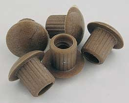BROWN WHIT PLASTIC BOWL NUT 0.25inch
